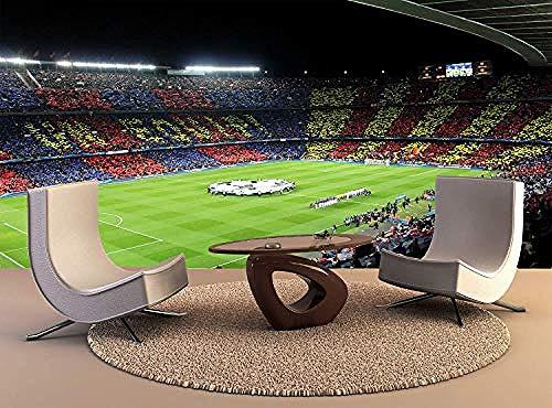 XHXI Póster con impresión de pared Fc Barcelona en Arena, decoración artística para pared, papel tap Pared Pintado Papel tapiz 3D Decoración dormitorio Fotomural sala sofá pared mural-250cm×170cm