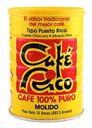 Café Rico Ground Coffee from Puerto Rico Café Molido 10 Ounce Can
