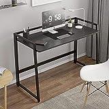 Escritorio ergonómico plegable para computadora portátil, mesa de escritura, mesa de escritorio con patas ajustables, espacio pequeño, no requiere montaje, 100 x 45 x 73 cm