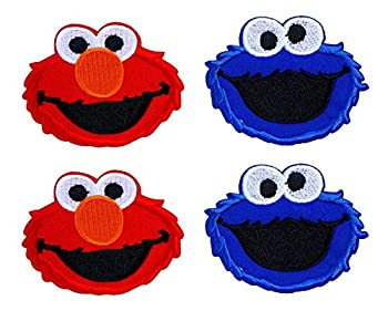 Y-PRESS Cartoon Character Logo Iron on or Sew on Embroidered Patch 4 Pcs