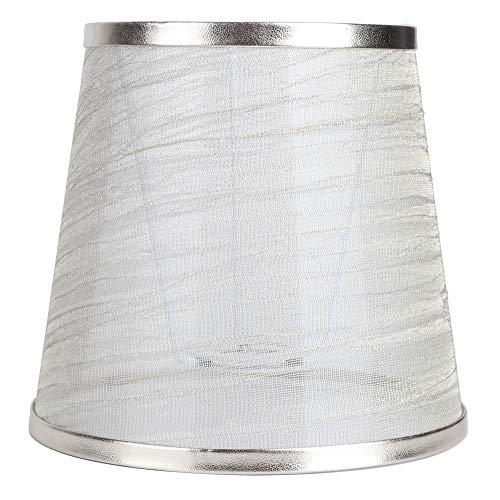 Fass Stoff Kleiner Lampenschirm Stoff Kronleuchter Lampenschirm Ersatz für Wandleuchte Nachttisch Mini Tischlampenabdeckung Schatten (Grau)