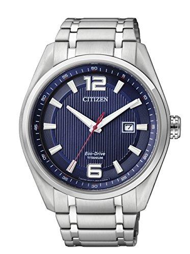 Citizen AW1240-57M - Reloj de Cuarzo para Hombre, con Correa de Titanio, Color Plateado