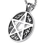 HZMAN Supernatural Devils Trap Symbol Sigil Stainless Steel Pendant Necklace Pentagram Anti Possession