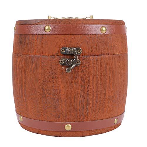 LIOOBO 1 st Houten Thee Vat Delicate Thee Canister Chic Thee Geschenkdoos Retro Houtskool Pu-Erh Tea Box Pu-Erh Thee Opbergdoos voor Collega's Buren Gezinnen Vrienden