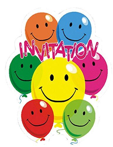 6 Cartes d'invitation Smile - taille - Taille Unique - 240462
