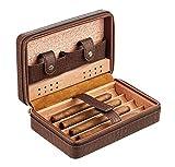 Humidificateur à cigare, Boîte humidificateur à cigares en bois de cèdre, étui portable pour humidificateur à cigares avec...