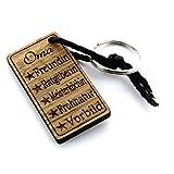 Lieblingsmensch Schlüsselanhänger aus Holz Modell: Oma