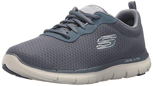 Skechers Damen Flex Appeal 2.0-Newsmaker Sneaker, Grau (Slate/Weiss), 39 EU