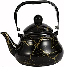 SOLUSTRE Czajnik do herbaty, emalia, wzór marmuru, czajnik elektryczny, czajnik do herbaty, dzbanek do kawy, dzbanek do ka...