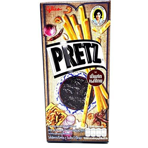 Thai Glico Pretz Thai Chili Paste Flavour Biscuit Stick (Pack of 4)