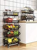 RETMI Frutero negro con 5 animales, cesta de fruta para la organización de la...
