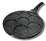 Cflagrant® - Padella per Pancake, 26 cm, in Pietra, per tutti i Tipi di Fuochi e Piano a Induzione, senza Acido Perfluoroottanoico (PFOA), Cottura senza Grassi, Rivestimento Antiaderente