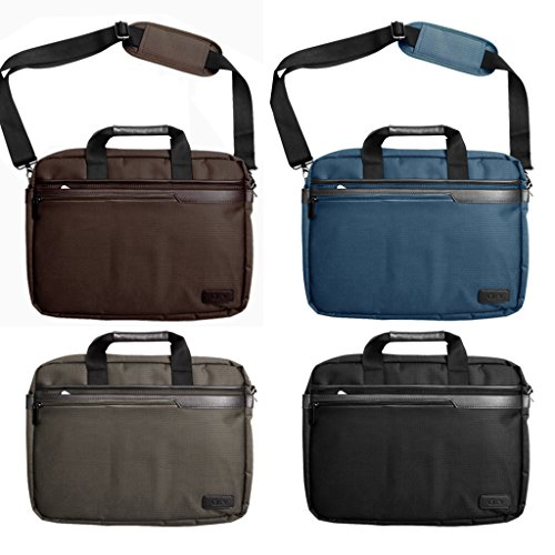 Laptop Bag for HP Pavilion x2 (12') / BLUE Lightwight Durable Protective Notebook Case Sleeve Messenger Briefcase with extra Pockets, Compartments for Phone, iPad, Tablet and Accessories with Handles and Detachable Shoulder Strap Suitable for 13-14.5' inch Models Computers
