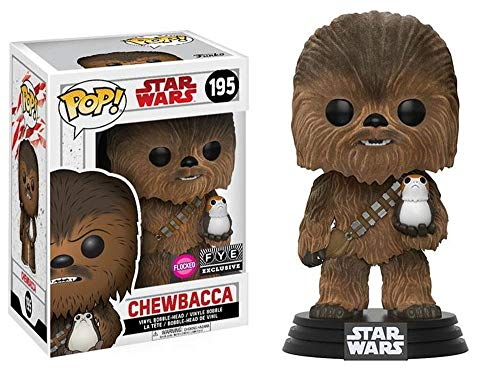 Figura Pop! Star Wars Episode VIII The Last Jedi Chewbacca with PORG Flocked Exclusive