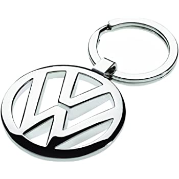 Volkswagen 000087010AEYPN argento Ciondolo portachiavi in metallo con scritta originale VW Portachiavi Up