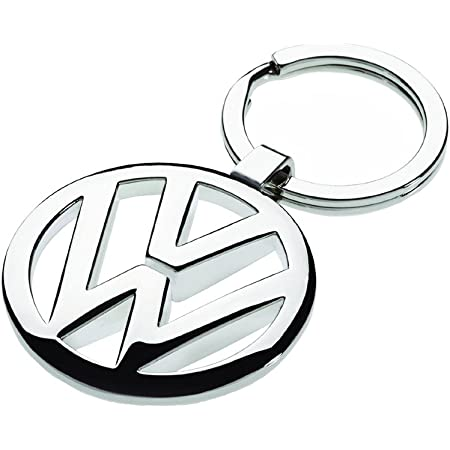 Volkswagen 000087908 Schlüsselanhänger Vw Logo Silber Metallic Ca 35 Mm Auto