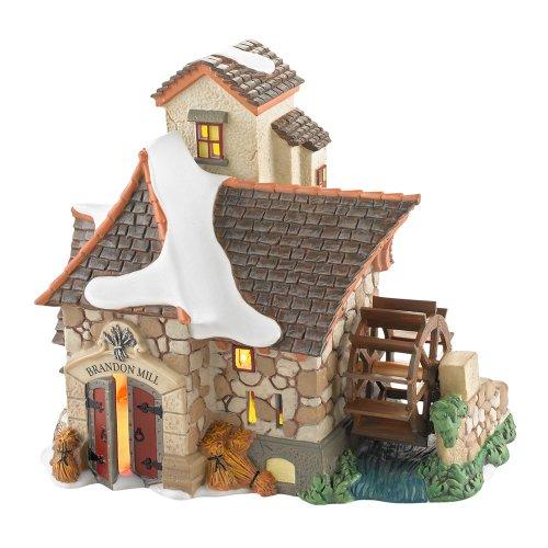 Department 56 Dickens' Village Brandon Mill Lit House, 6.1 inch