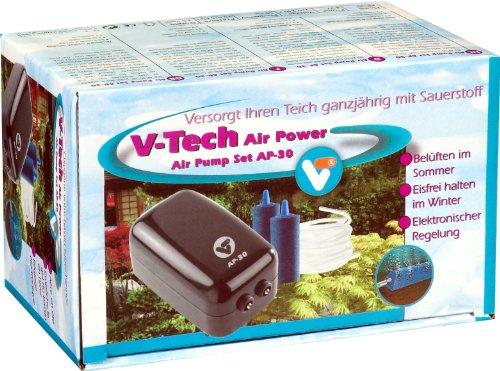 VT 145051 Luftpumpen-Set mit Luftschlauch und Luftstein, V-Tech Air Pump Set AP 30