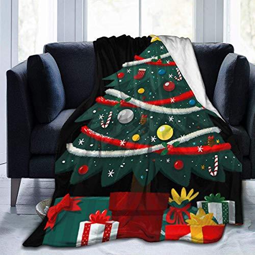Zjipeung Regalo Debajo árbol Navidad Manta Microfibra