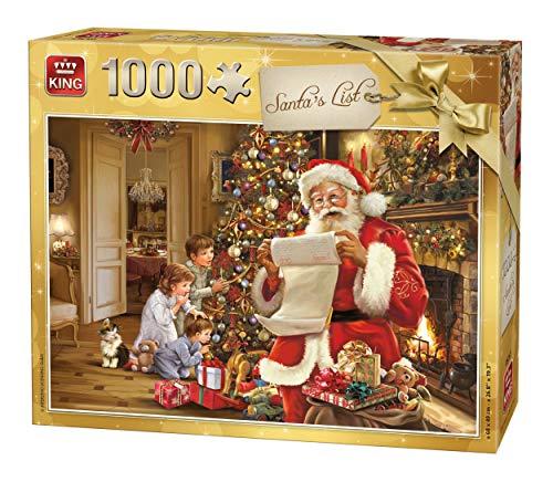 King 5767 - Puzzle natalizio con Babbo Natale, 1000 pezzi, 68 x 49 cm