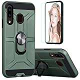 unkonwn Suordii Phone case for Huawei Y6 2019 / Honor 8A / Y6 Pro 2019 with Tempered Glass Screen Protector,Hybrid Heavy Duty Dual Layer Anti-Scratch Defender Kickstand Armor Cover - Green