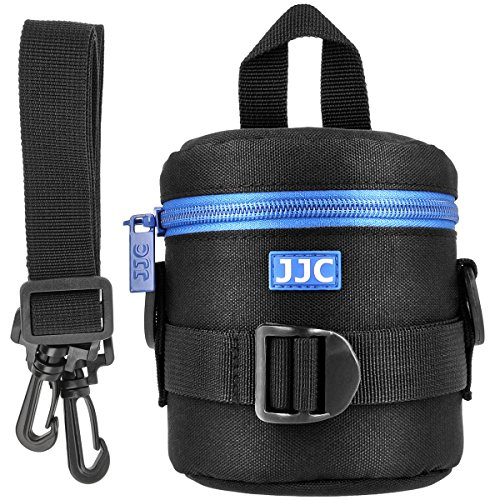 Objektivtasche Objektivköcher Objektivbeutel für Kamera Objektive mit Schultergurt + Handgriff + Klettverschluss für den Gürtel – Innenmaß 78 x 125 mm – JJC Deluxe Lens Pouch DLP-1II