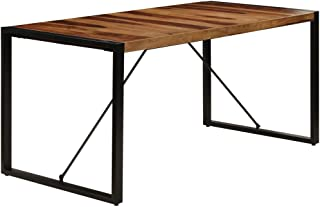 vidaXL Bois de Sesham Massif Table de Salle à Manger Table de Repas Table de Cuisine Table à Dîner Mobilier à Dîner Mobili...