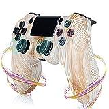 LVHI Mando para PS4, Bluetooth Gamepad Controlador Inalámbrico para Playstation 4 Y PC, Agarre Antideslizante Y Panel Táctil LED para PS4 4/PS4 Pro/PS4 Slim (Color : Wood Texture)