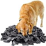 IEUUMLER Snuffle Mat para Perros Estera de alimentación Estera de Entrenamiento Manta para la Nariz Juguete de Juego IE075 (45x45cm, Dark Grey)