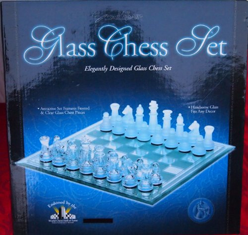 glass chess set Excalibur Eight 11 X 11
