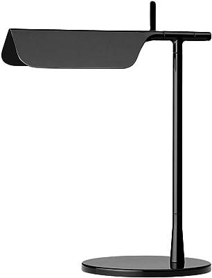 Lampe de bureau modèle Tab T, corps en aluminium, abat-jour en forme de toit, préparée pour luminaire 14 LED, 5 W, 27,3 x 17,5 x 32,7 cm, couleur noire (référence : F6560030)