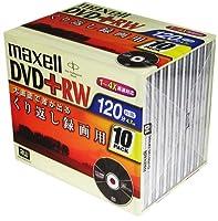 maxell DVD+RW 録画用 120分 2-4倍速 10枚パック D+RW120.1P10S