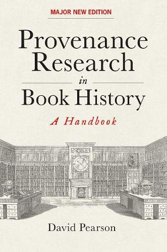 Pearson, D: Provenance Research in Book History