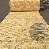 DONGZHI ReedsRodillo Ciego Bambú Persianas Natural Junco Cortina, Al Aire Libre Interior Mueble Decoración, para Ventana/Kiosko/Balcón/Patio,145x235cm/57x93in