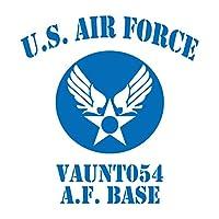 U.S AIR FORCE カッティングステッカー ブルー 青