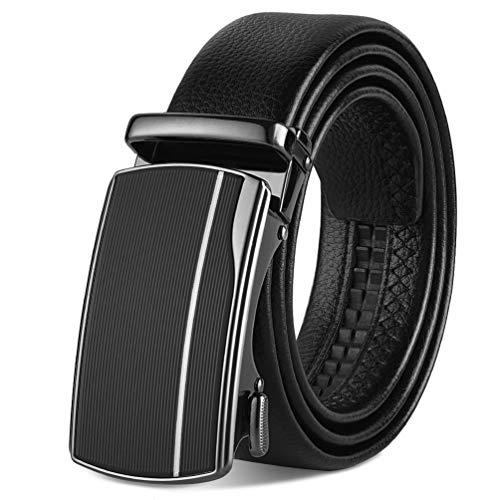 VBIGER Gürtel Herren Leder Gürtel Business Anzug Gürtel Jeans Gürtel 3,5cm Breite