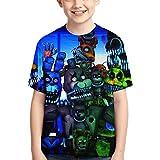 3D Print Five Night FNAF Shirt Sweatshirt Funny Short Sleeve T-Shirt for Boys and Girls 4-S