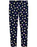 Osh Kosh Girls' Kids Full Length Leggings, Navy Emojis, 7