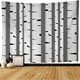 Starogs Tapestry for Aspen Tree Autumn Grove Pattern Vectorfabricdesign Element Scene Branch Nature Birch Textures Wall Tapestry Wall Decor Blanket for Bedroom Home Dorm 80x60 Inch
