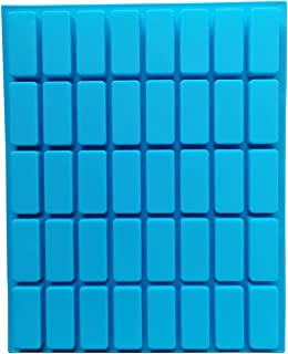40 Cavities Rectangle Silicone Molds for Chocolate Truffles Ganache Jelly Candy and Praline Ice Cube Tray 29 x 22 CM