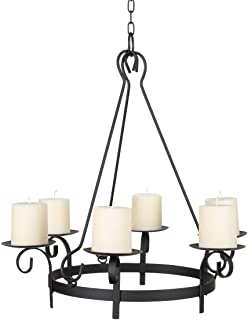 Wrought Iron Hanging Gazebo Candelabra Outdoor Patio Lighting