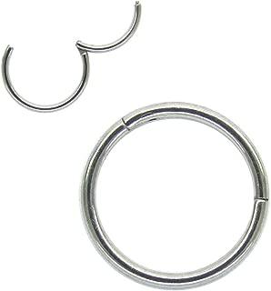 NewkeepsR 20G-18G-16G-14G-12G-10G-8G 316L Steel Clicker Segment Nose Hoop Ring
