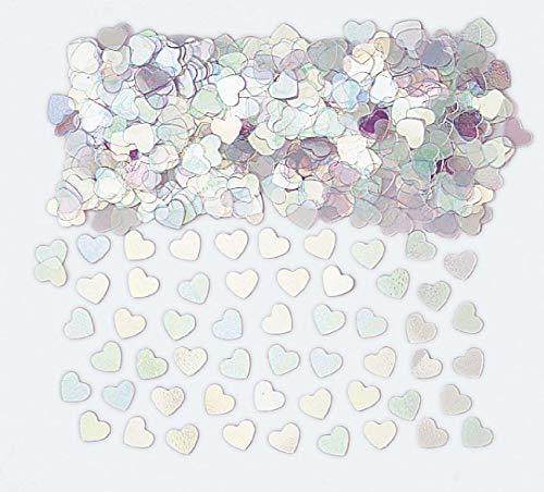 amscan International Confettis métalliques en Forme de cœur Iris 14 g