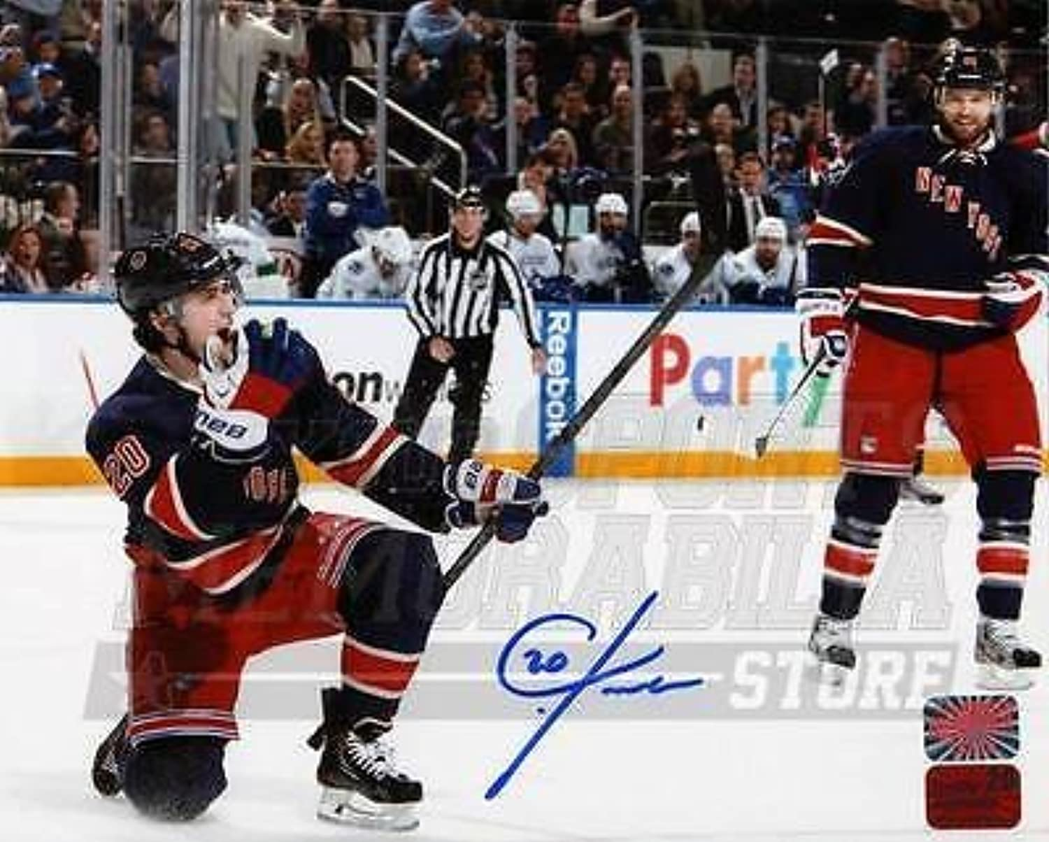 Chris Kreider New York Rangers Signed Autographed Fist Pump Celebration 16x20
