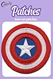 Iron On Patches - Captain America Iron On Patch Embroidered Applique The First Avenger Shield Marvel Superhero S-11