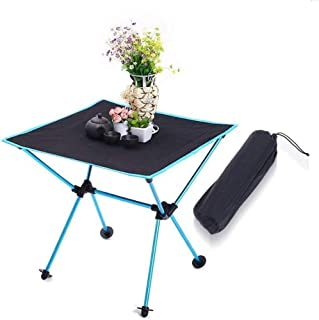 Folding Camping Table, Portable Aluminum Camp Table Desk for Indoor Outdoor Hiking Camp