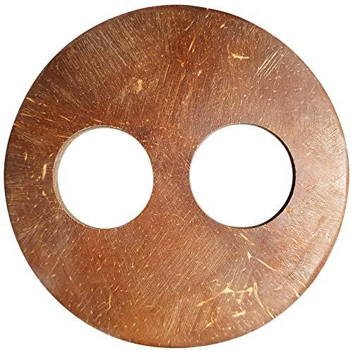 5 er Set Sarongschnalle Schnalle Pareo Wickel Rock Schnalle Spange Schliesse aus Kokos zum Sarong binden