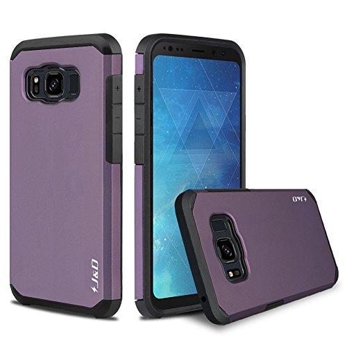 JundD Schutzhülle kompatibel für Galaxy S8 Active, strapazierfähig, doppellagig, Hybrid-Hülle, stoßfest, für Samsung Galaxy S8 Active, nicht für Galaxy S8 Edge/Galaxy S8, Violett