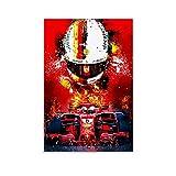 Yuhui Sebastian Vettel F1 Poster, dekoratives Gemälde,