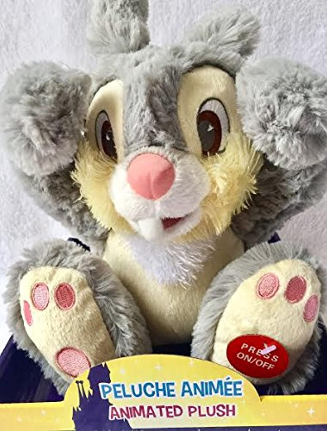 Disney's Authentic Animated plush soft, Musical talking, peek a boo Thumper
